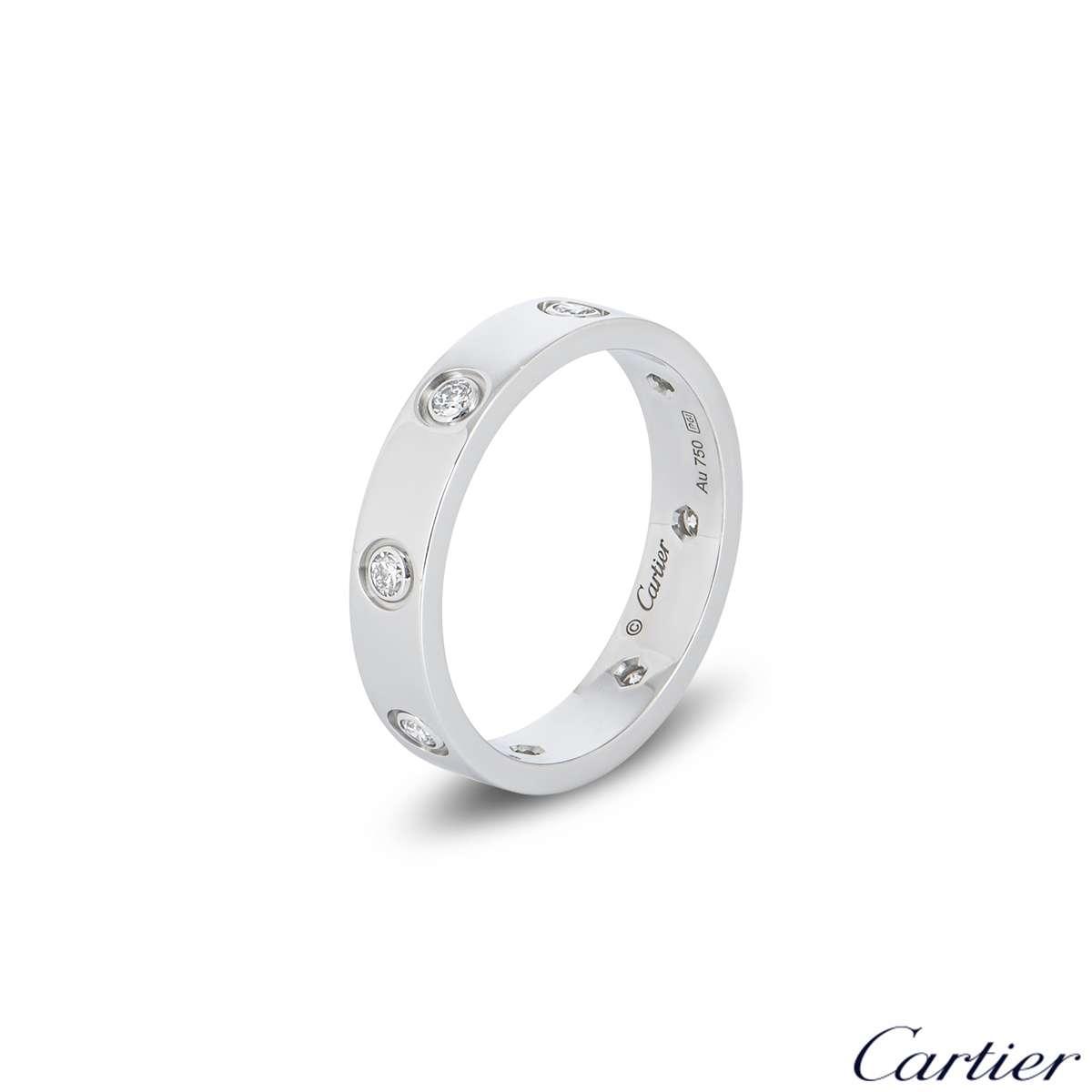CartierFull Diamond Love Wedding Band Size 53B40506500